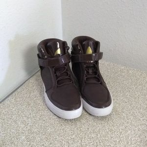 Adidas Brown High Top Sneakers